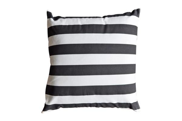 The Zane: Black and White Striped Pillow