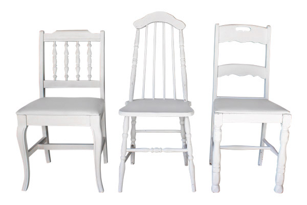 The Bradshaw: White Vintage Chairs