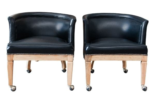 The Lewis: Black Midcentury Club Chairs