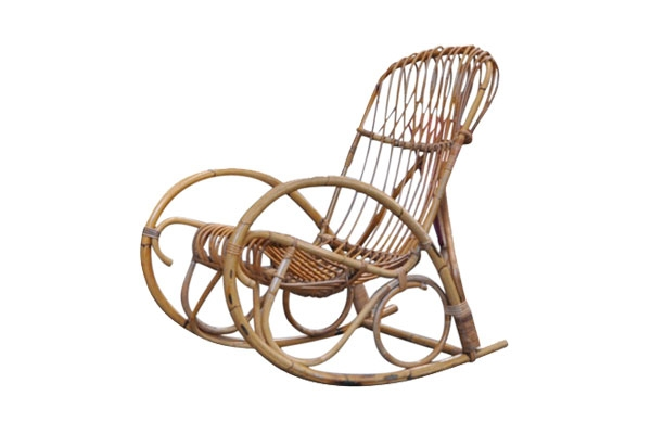 The Rockaway: Rattan Rocking Chair
