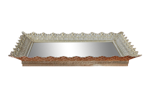 The Elsie: Rectangular Gold Mirror Tray