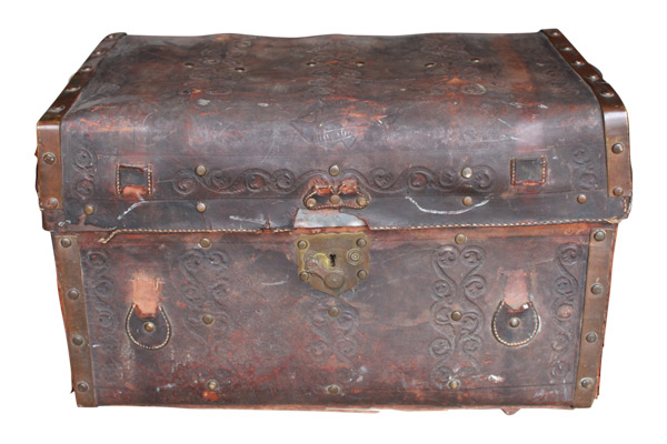 The Cooper: Embossed Leather Steamer Trunk