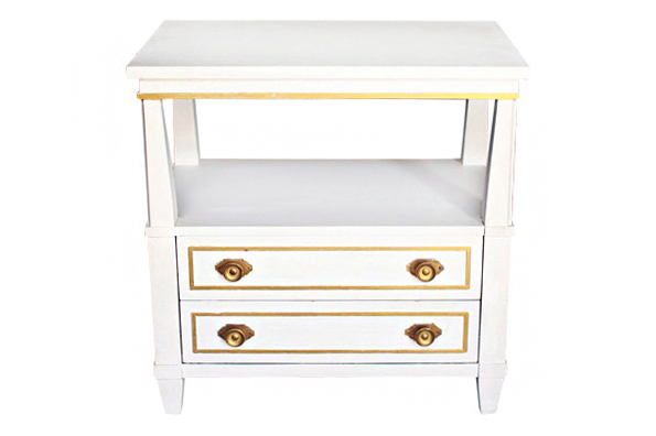 Serena White Side Table