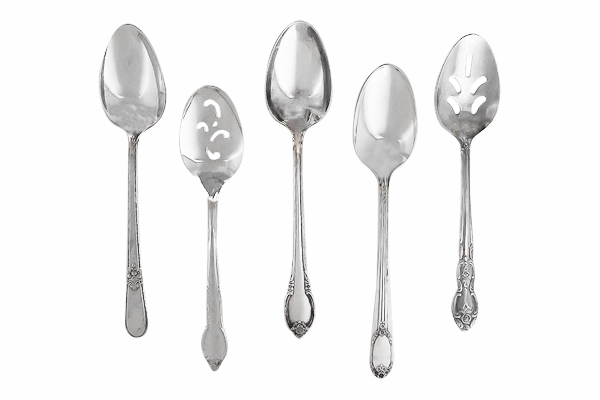 Delilah Vintage Silver-Plated Serving Spoons