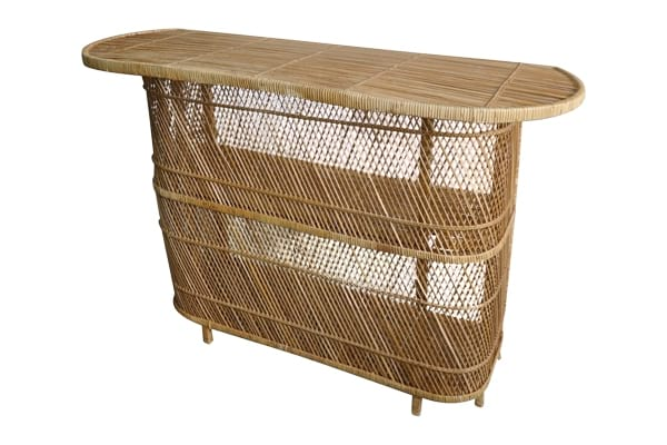 The Finch: Petite Vintage Rattan Bar