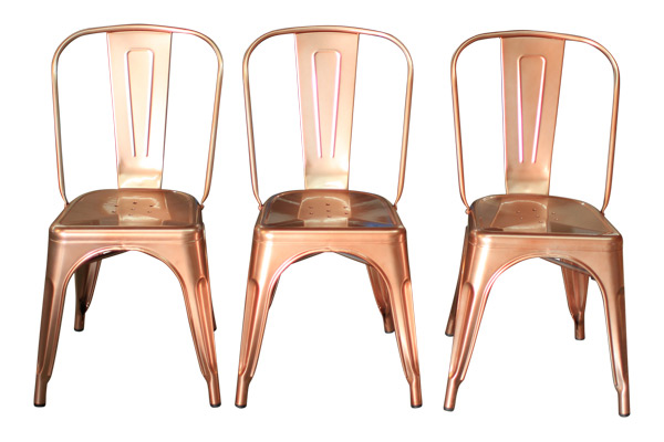 New! The Lincoln Rose Gold/ Copper Chairs