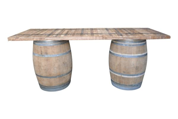 The Waterford: Wine Barrel Table