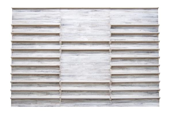 The Marilyn: White Washed Reclaimed Wood Shelves
