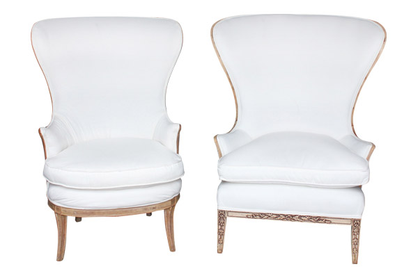 The Payton: White Wing Chairs