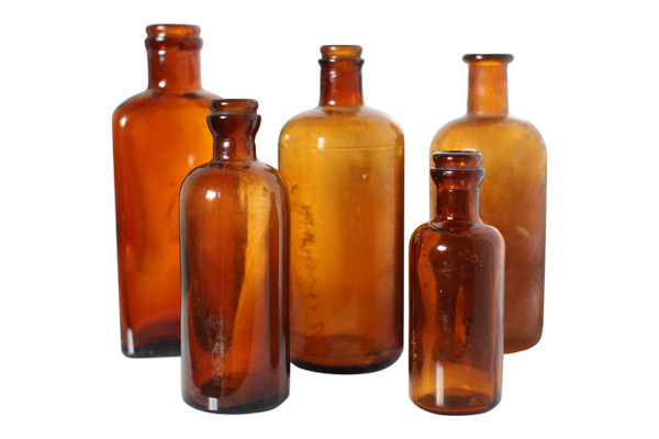 The Apothics Amber Bottles