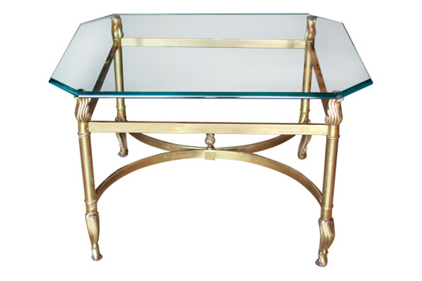 The Gladys: Brass Coffee Table
