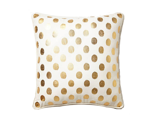 The Cindy: Gold and White Pillows