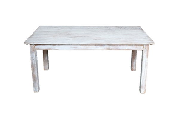 The Dupont: Sweetheart White Washed Table