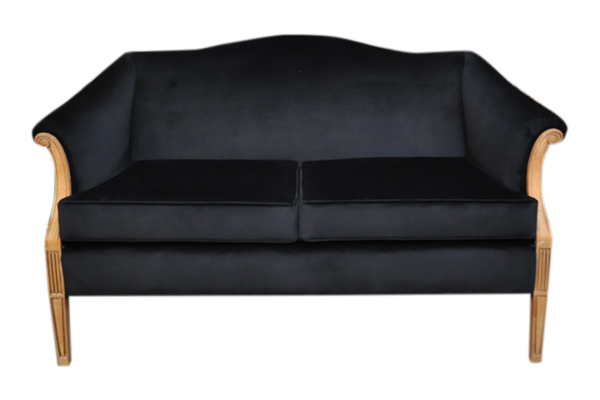 The Lola: Black Midcentury Settee