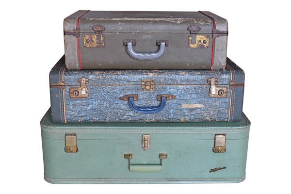 The Azure Vintage Suitcases