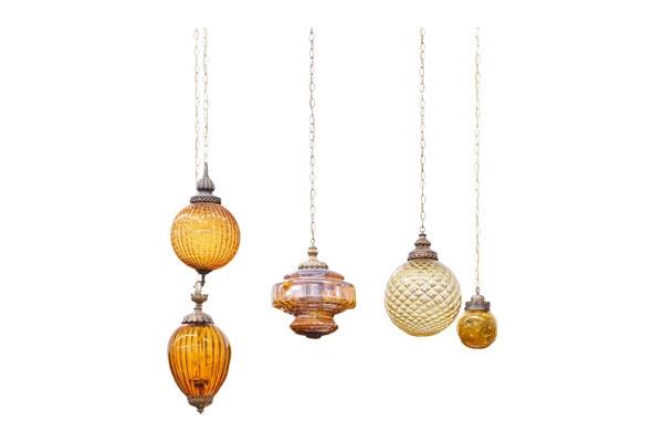 The Griffins: Vintage Amber Pendant Lights