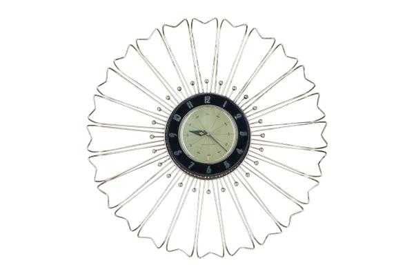 The Huxley: Brass Midcentury Clock