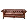 The Harrison: Tufted Leather Sofa