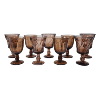 Smokey Glass Goblets