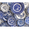 The Delaney: Mixed Blue + White Plate Set