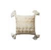 The Amira: White and Gold Tassel Pillows