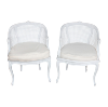 The Taylors: White Caned Chairs