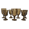 Smokey Gray Glass Goblets