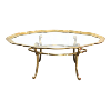 The Janice: Brass Coffee Table