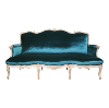 The Sinclair: Peacock Green Velvet Sofa