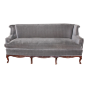 The Chandler: Gray Velvet Sofa