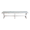 New! Dupont Whitewashed Benches