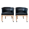 The Lewis: Black Midcentury Club Chairs