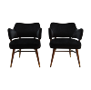The Silvestres: Black Midcentury Side Chairs