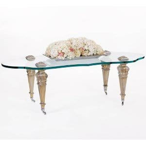 Silver Glass Top Table