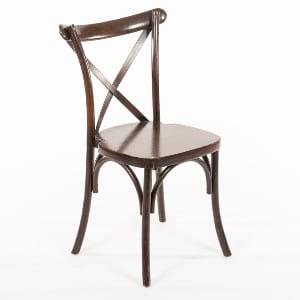 Dark Walnut Tuscan Cross-Back Chair