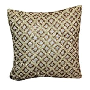 Gold and Pearl Beaded Pillow