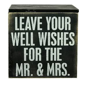 Well Wishes Wedding Card Box