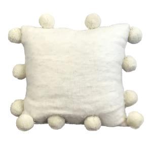White Tassle Pillow