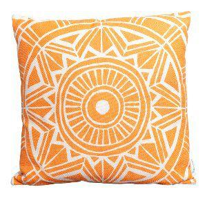 Orange Medallion Pillow