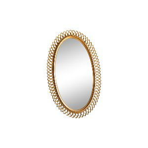 Modern Oval Gold Mirror