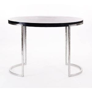 Oval + Ebony Side Table