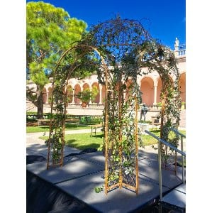 Wrought Iron Domed Gazebo
