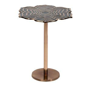 Black Flower Side Table