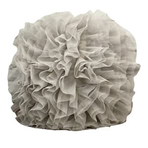 Grey Tulle Pillow