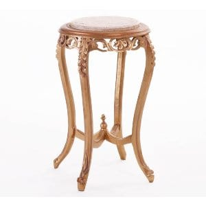 Gold + Marble Pedestal Side Table