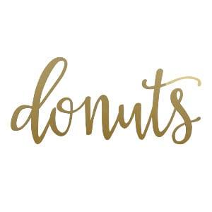 Gold Donut Sign