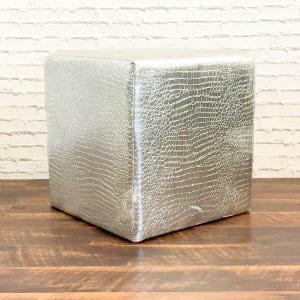 Silver Croc Cube