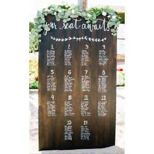 Custom Wood Placecard Wall