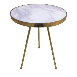 Marble & Gold Side Table