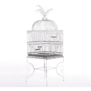 White Wrought Iron Birdcage